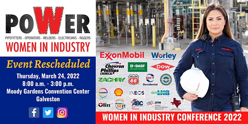 Women in Industry Conference - Event Rescheduled to March 24, 2022